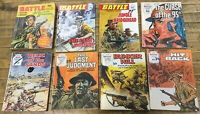 Bulk Battle and War Picture library comics holiday special 80s vintage