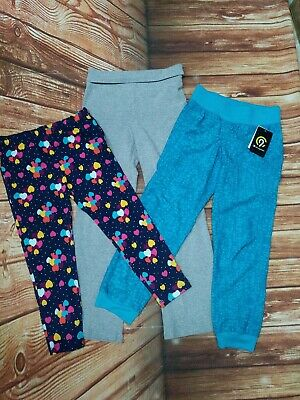 Lot of 3 Pair Girls Champion NWT, 1989 Place, Faded Glory Leggings/Yoga Pants