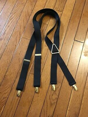 Mens Adjustable Y-Back Suspenders Hook With Clips One Size