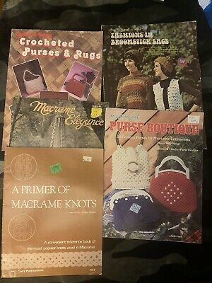 Lot Of Macrame Pattern Books Elegance Primer Of Knots Purse Boutique