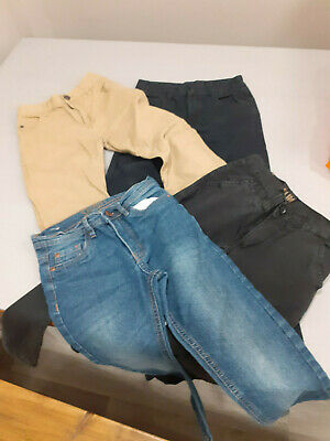 2 Pair Boys Chinos & 2 Pair Jeans Size 7-8 Years