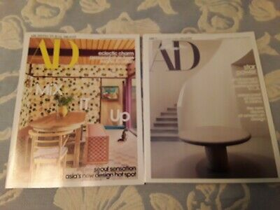 *Lot of 2*ARCHITECTURAL DIGEST MAGAZINE*FEBRUARY 2020*MARCH 2020*