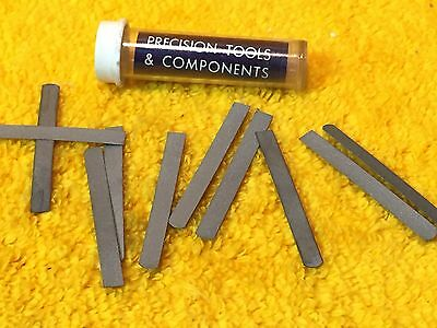 New Lot Of (10) Precision Tools Replacement Blades Rb-6 For Burnisher