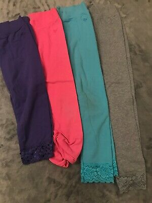 Girls Justice Size 8 Leggings Really Cute Lot Of 4