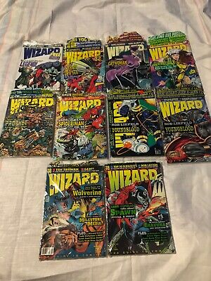 Wizard Comic Magazines Lot Of 10 (1994) #31-39 All In Polybags