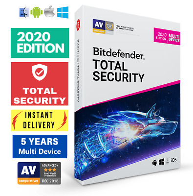 Bitdefender Total Security 2020 - 5 Years - Multi Device - Activation Download!!