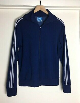 VTG 70s 80s Adidas Ventex Made In France Track Jacket 180 S/M Trefoil 3 Stripe