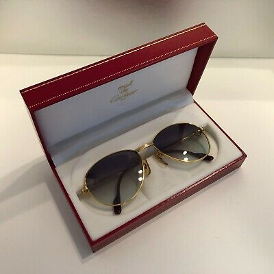 Cartier S Diamond Louis Cartier Vintage Sunglasses 100%Auth Fine con Super Rare!