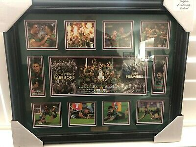 South Sydney  2014 premiers photo framed limited edition memorabilia