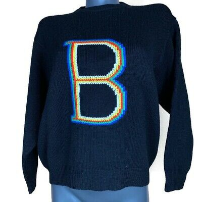 Vintage 1980s United Colors Of Benetton Women's Sweater Shetland Wool Large