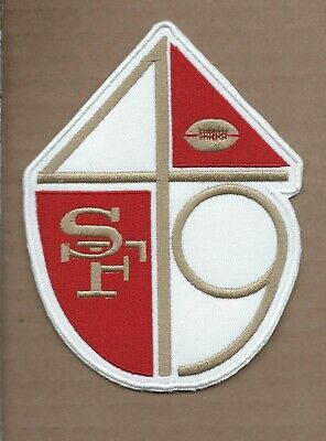 New 4 X 5 1/4 Inch San Francisco 49Ers Retro Iron On Patch Free Shipping A1
