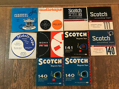 10 Blank Reel to Reel Tape Lot - Scotch, Sony, Carousel, Audiotape, etc