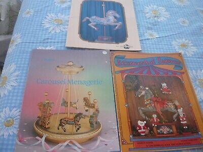 LOT OF THREE (3)CAROUSEL COLLECTION Decorative BOOKS VARIOUS ARTISTS