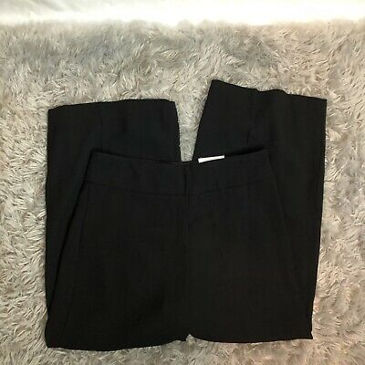Express Women's High Rise Cropped Culottes Pants Size 8R Black
