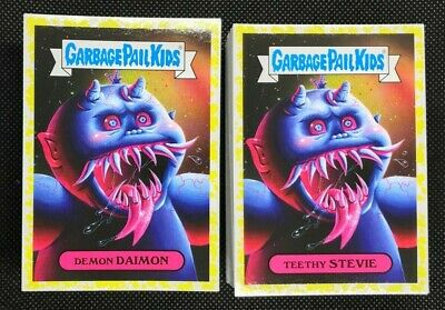 Garbage Pail Kids Revenge Oh the Horror-ible COMPLETE YELLOW 200 card SET GPK