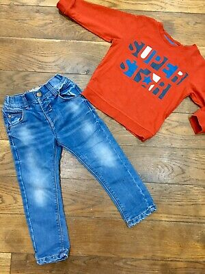 ❤️Baby Toddler Boys Next Super Star Outfit Bundle Age 2-3 Years Jeans And Top ❤️