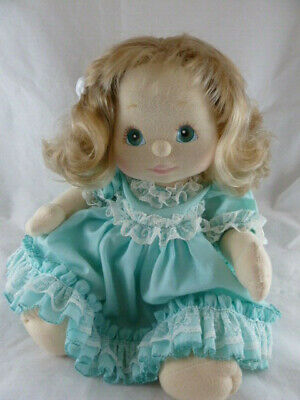 My Child Doll Dressed Beautiful blue green eyes Blond hair Very clean