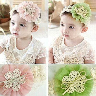 LD_ Cute Lace Flower Kids Baby Girl Toddler Headband Hair Band Headwear Access