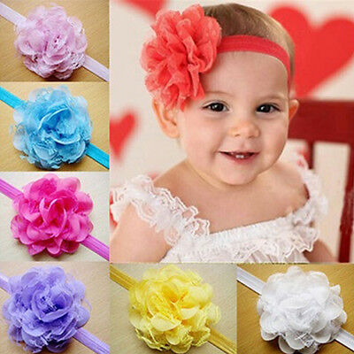 Ld_ Ee_ Uk_ Toddler Baby Girls' Flower Headband Elastic Hair Band Headwear Hea