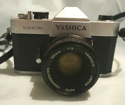 Yashica TL-ELECTRO 35mm film SLR Camera with Yashinon-DS 50mm 1.9 lens japan