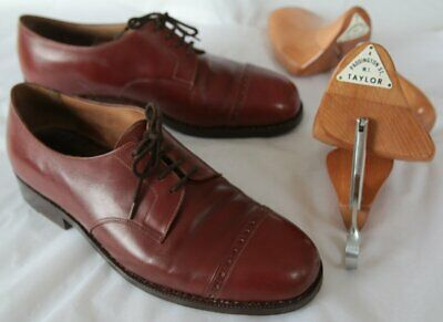 Vintage James Taylor & Son Cap Toe Brown Brogues w/ Shoe Trees Size 9 approx