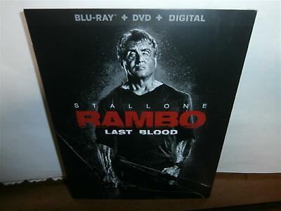 Rambo: Last Blood Blu-Ray Stallone Bloody Revenge Thriller W/Slipcover Sealed