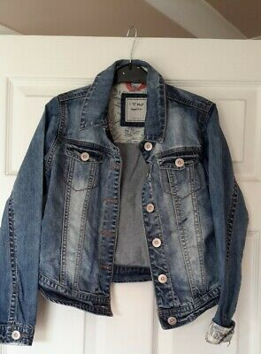 Girls denim jacket age 9-10 Next