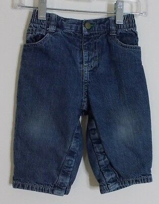 Boy's Osh Kosh Size 12 Months 4 Pocket Lined Blue Jeans ~ Great Condition!
