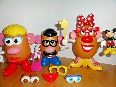 Mr Potato Head Bundle, 3 Bodies + Accessories including Disney Mini Mouse Parts