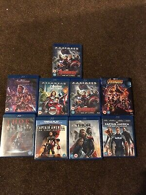 marvel blu ray bundle Avengers Captain America Thor