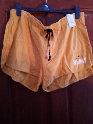 Primark Disney Winnie the Pooh Yellow Shorts For Ladies size 22-24
