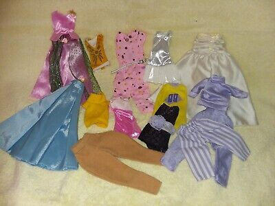 Lot Barbie Clothes Outfits Glasses Brushes Shoes Accessories Dresses