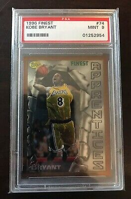 1996-97 Topps Finest #74 Kobe Bryant Los Angeles Lakers RC Rookie PSA 9 MINT