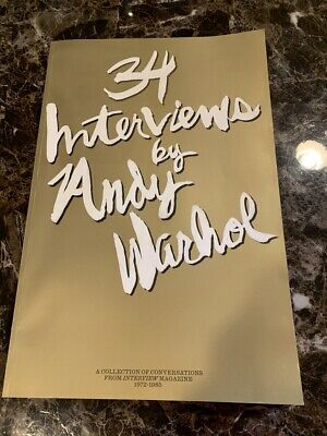 Andy Warhol - Dom Perignon 34 Interviews By Andy Warhol 1972-85 Very Large New