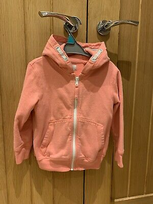 Next Girls Coral Pale Pink Hoody Age 3-4