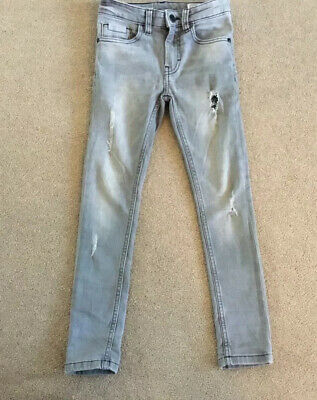 NEXT Boys Grey Super Skinny Distressed Jeans Age 7 Years