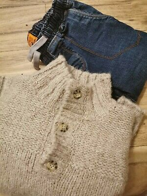 Next Age 12 Boys  Twisted Seam Jeans And Jumper Bundle