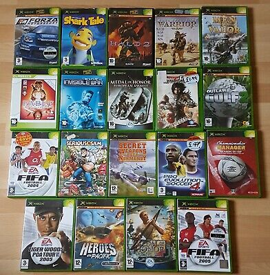 Microsoft Original Xbox PAL Game Bundle X 19 - Forza - Fable - Serious Sam