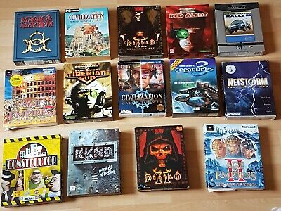 PC CD Rom Windows Big Box Game Bundle x 14 - Boxes & Instructions Only No Games