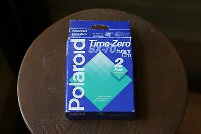 POLAROID TIME-ZERO SX-70 INSTANT FILM 20 Photos - Expired 08/95 2-PACK NOS NEW !