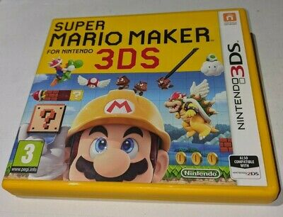 Nintendo 3DS SUPER MARIO MAKER game, in original box with inserts