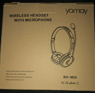 Yamay Bluetooth Headset For Cell Phones Wireless Headset Noise Cancelling Bluet 73 11 Picclick
