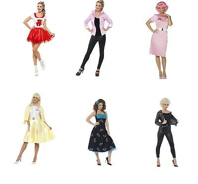 Childs Kids Sandy Greaser Girl Fancy Dress Costume 1950S Outfit 5-16 Yrs