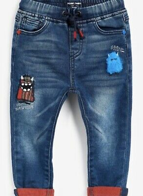 Boys Next blue Monster Jeans 12-18 months Bnwt