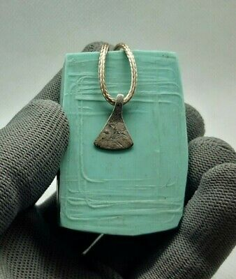 Rare Ancient Antique Silver Viking Amulet Pendant AXE AX 9th-11th Century AD#167