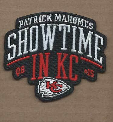 """New 3 1/2 X 4"""" Patrick Mahomes Chiefs Showtime Iron On Patch Free Ship A1"""