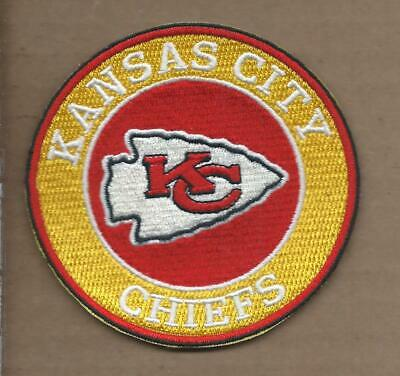 New 3 1/2 Inch Kansas City Chiefs Iron On Patch Free Shipping A2