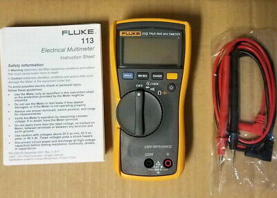 Fluke 113 True RMS Auto-Ranging Multimeter with Leads. Voltage, Ohms, Capacitors