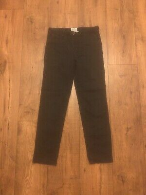 H&M Boys 11-12 Years Slim Stretch Fit Blue Trouser Chino New