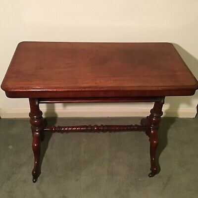 Antique Victorian Carved Mahogany Aesthetic Movement Hall / Sofa Table